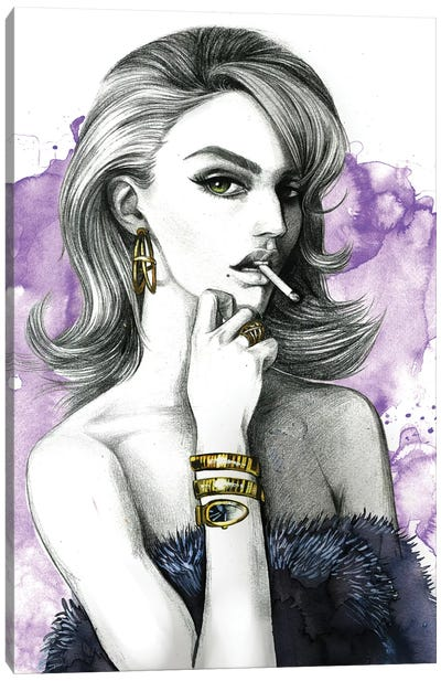 Purple Canvas Art Print