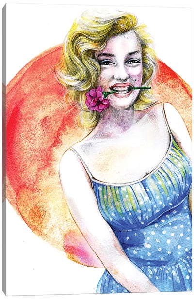 Marilyn Monroe Canvas Print #RDE51