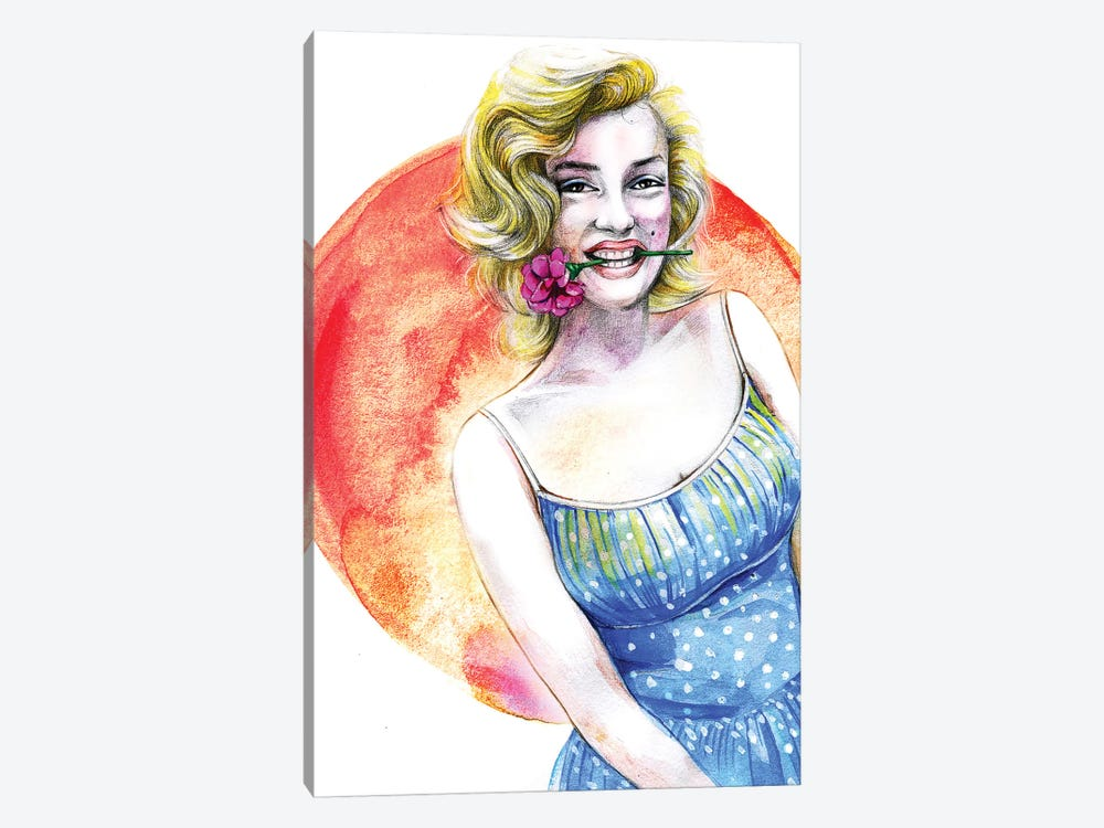 Marilyn Monroe by Rongrong DeVoe 1-piece Canvas Art Print
