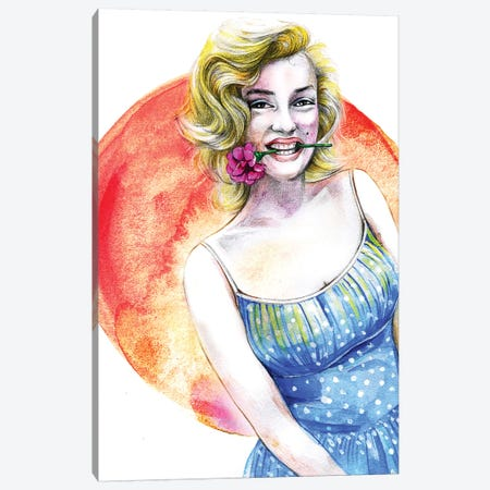 Marilyn Monroe Canvas Print #RDE51} by Rongrong DeVoe Canvas Art