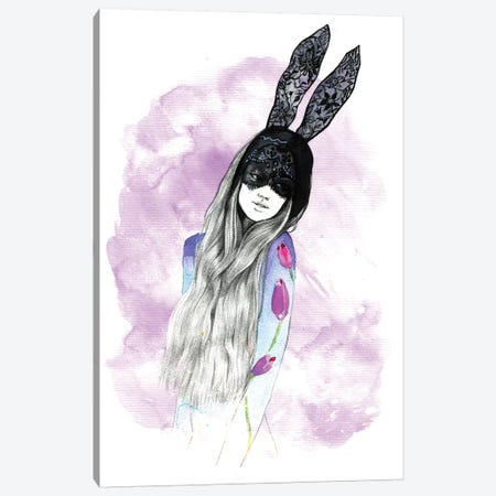 Mask Girl  Canvas Print #RDE52} by Rongrong DeVoe Canvas Wall Art