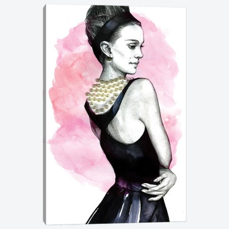 Natalie Portman Canvas Print #RDE53} by Rongrong DeVoe Canvas Wall Art