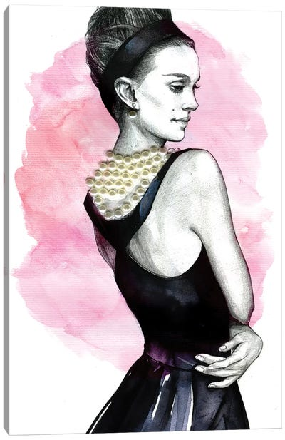 Natalie Portman by Rongrong DeVoe Canvas Wall Art