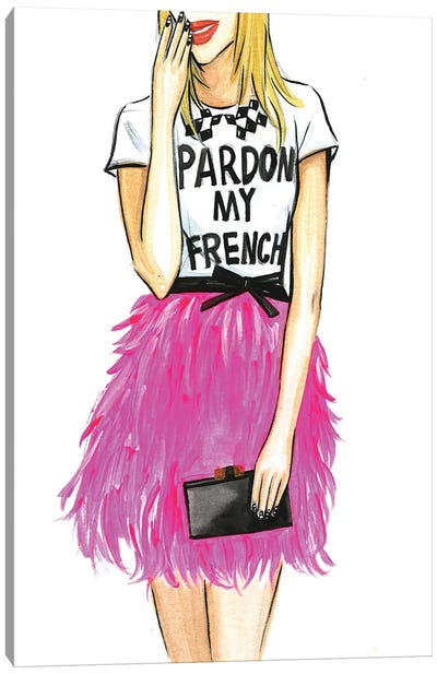 Pardon My French I Canvas Print #RDE55