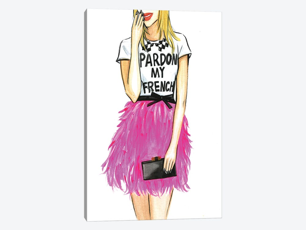 Pardon My French I by Rongrong DeVoe 1-piece Art Print