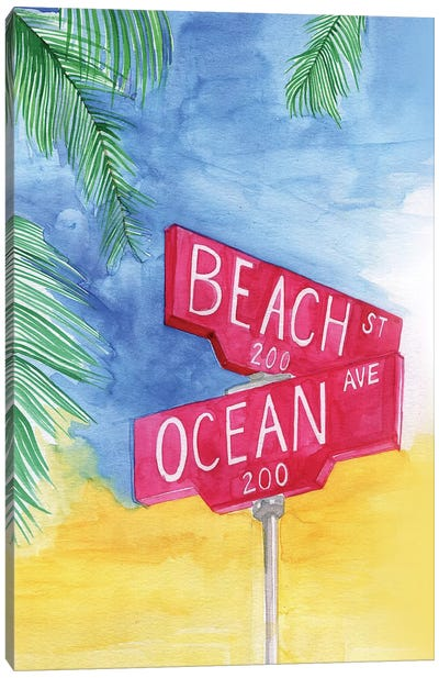 Beach Avenue Canvas Art Print