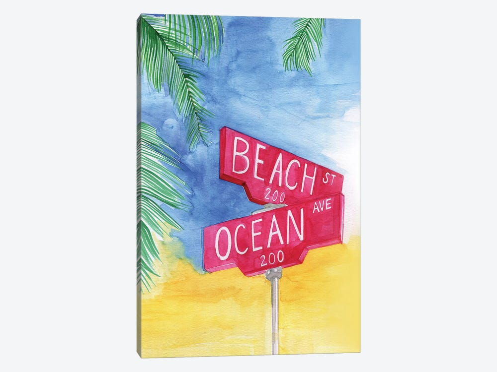 Beach Avenue by Rongrong DeVoe 1-piece Canvas Art