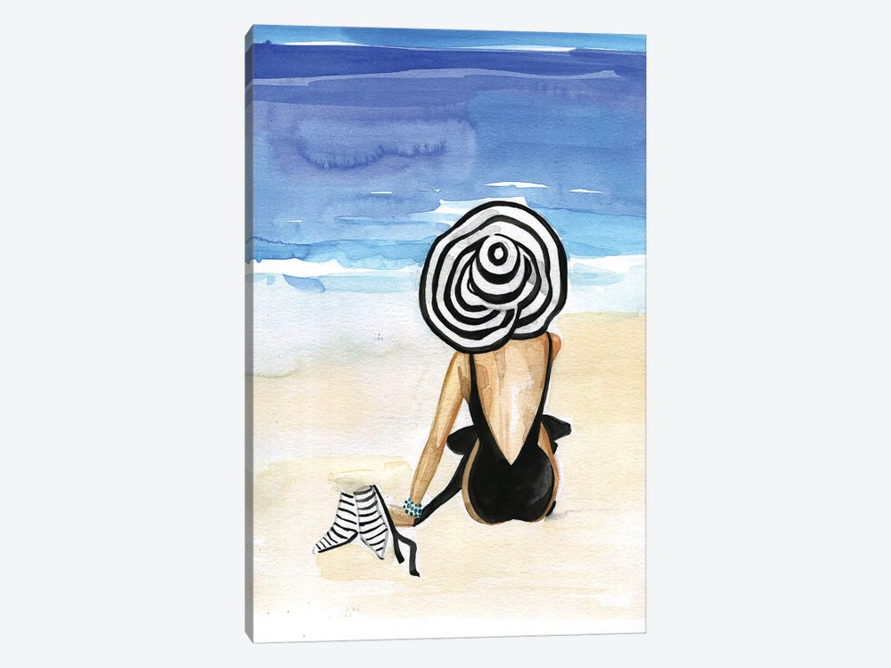 Beach Time by Rongrong DeVoe 1-piece Canvas Art Print