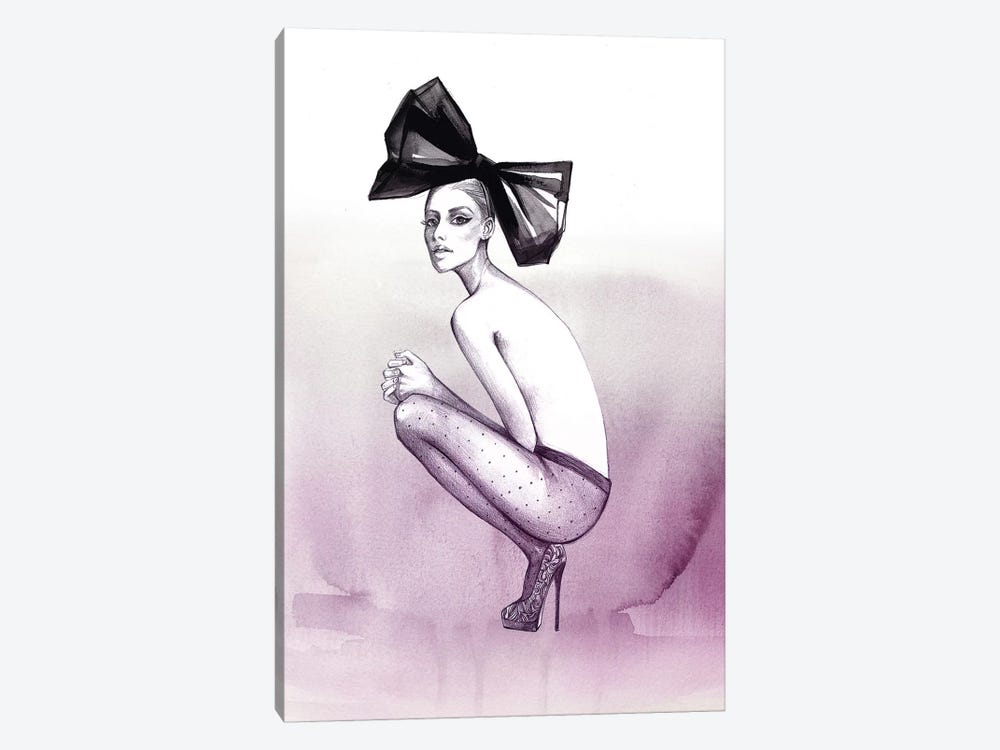 Bow And Stockings by Rongrong DeVoe 1-piece Canvas Print