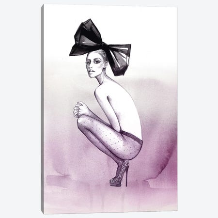 Bow And Stockings Canvas Print #RDE60} by Rongrong DeVoe Canvas Art Print