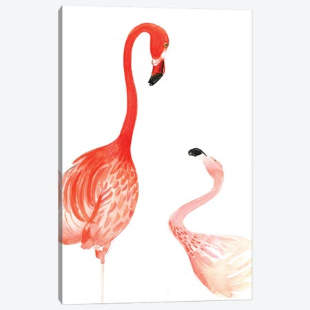 Flamingo Canvas Print #RDE63} by Rongrong DeVoe Art Print