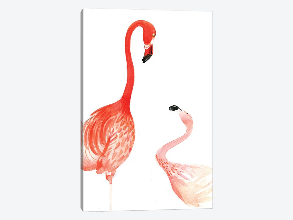 Flamingo by Rongrong DeVoe 1-piece Canvas Art