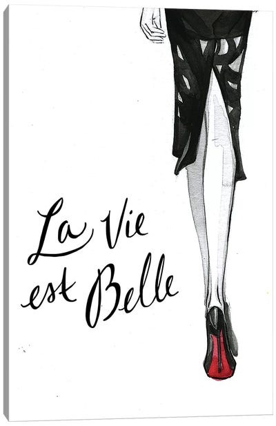 Backview (Red Bottoms) Canvas Art Print