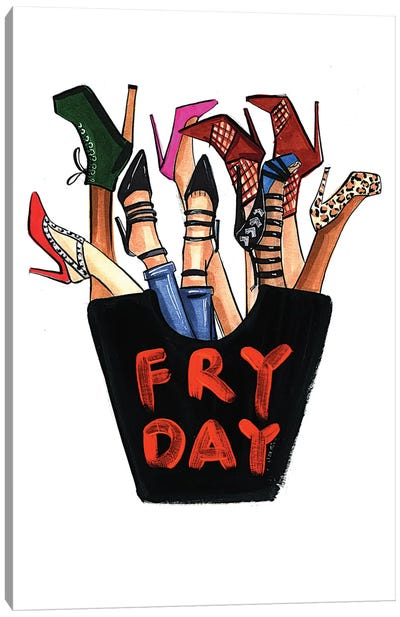 Fry-day (Shoes) Canvas Print #RDE69
