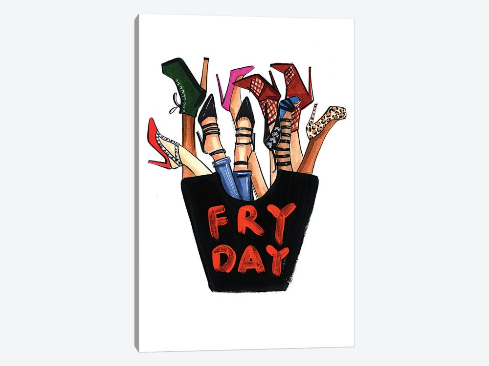Fry-day (Shoes) by Rongrong DeVoe 1-piece Canvas Wall Art