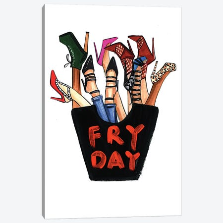 Fry-day (Shoes) Canvas Print #RDE69} by Rongrong DeVoe Canvas Art Print