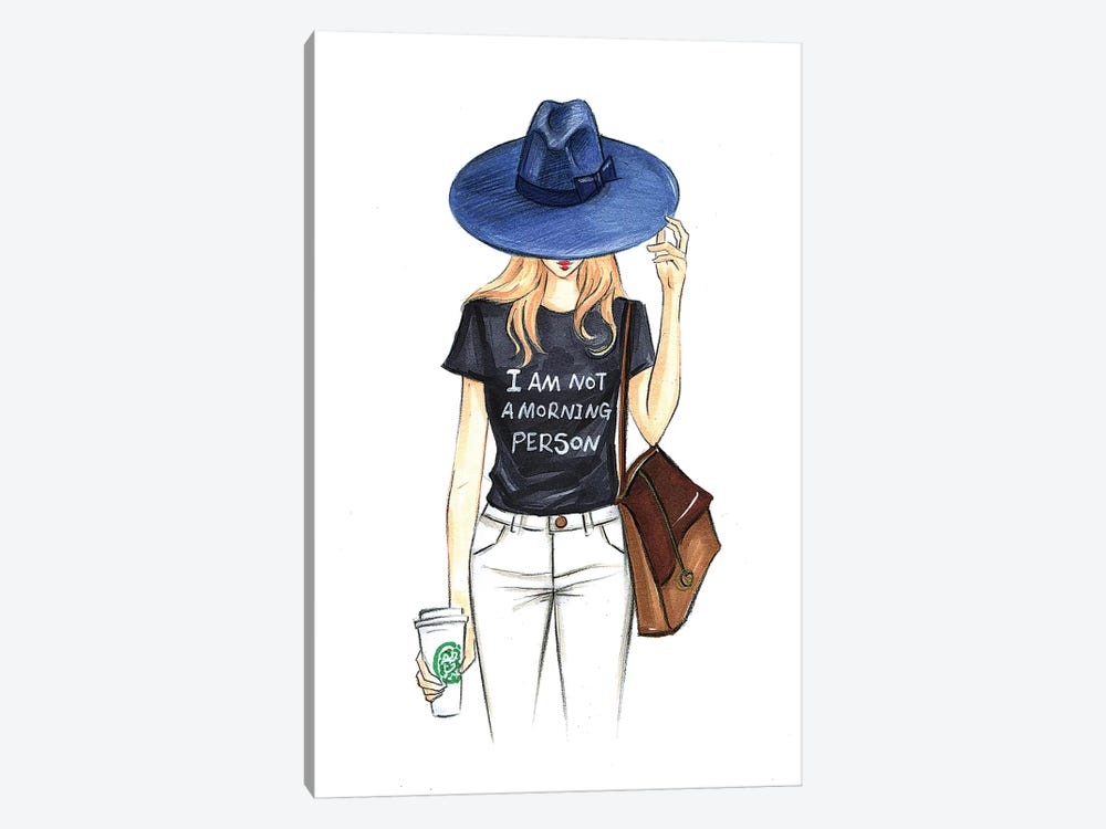 I Am Not A Morning Person by Rongrong DeVoe 1-piece Art Print