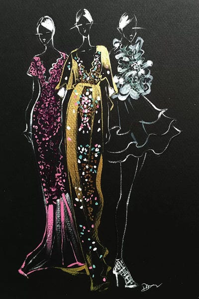 Inspired Fashion Illustration (Couture Gowns)... | Rongrong DeVoe | ICanvas