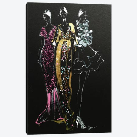 Inspired Fashion Illustration (Couture Gowns) Canvas Print #RDE72} by Rongrong DeVoe Canvas Artwork