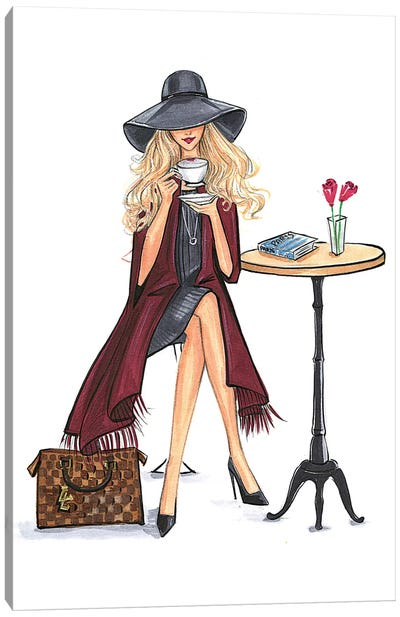 Lady Latte (Blonde) by Rongrong DeVoe Canvas Art Print