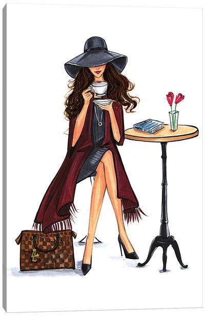 Lady Latte (Brunette) Canvas Print #RDE74
