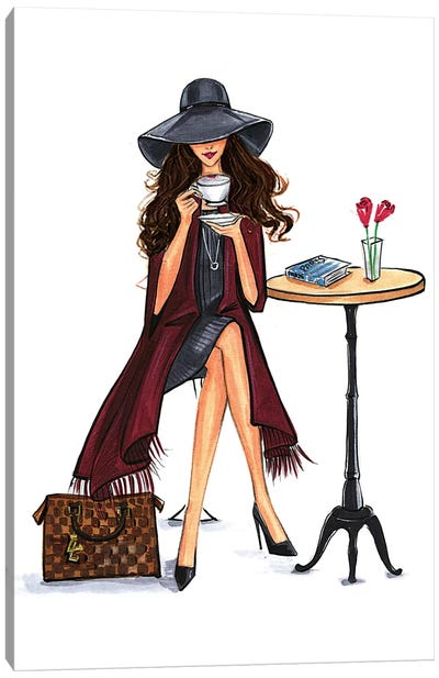 Lady Latte (Brunette) Canvas Art Print