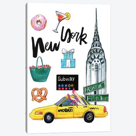 New York Canvas Print #RDE76} by Rongrong DeVoe Art Print