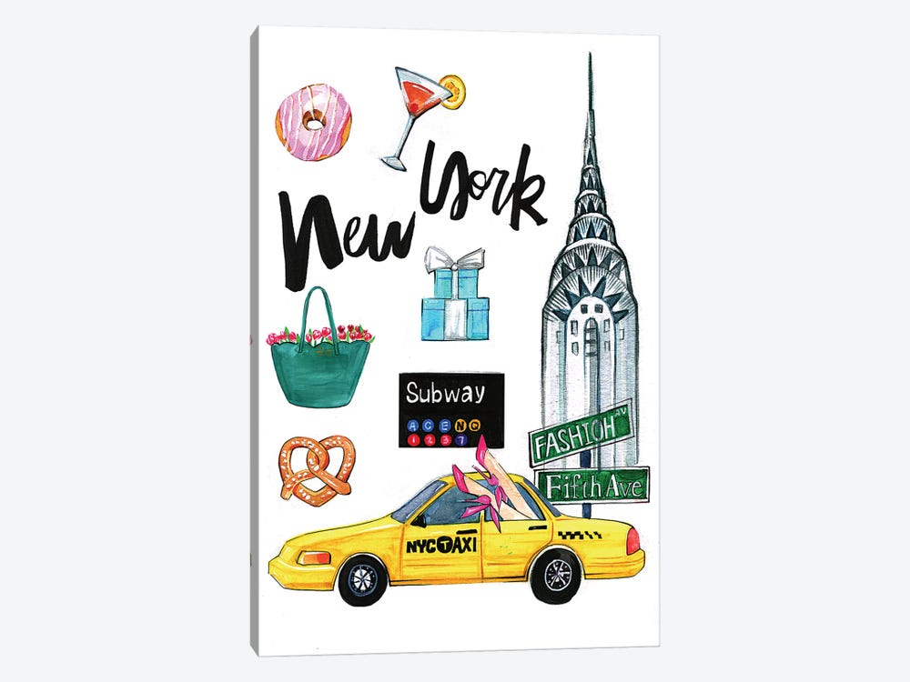 New York by Rongrong DeVoe 1-piece Canvas Artwork