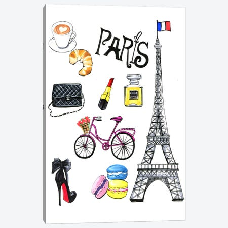 Paris Canvas Print #RDE77} by Rongrong DeVoe Canvas Print