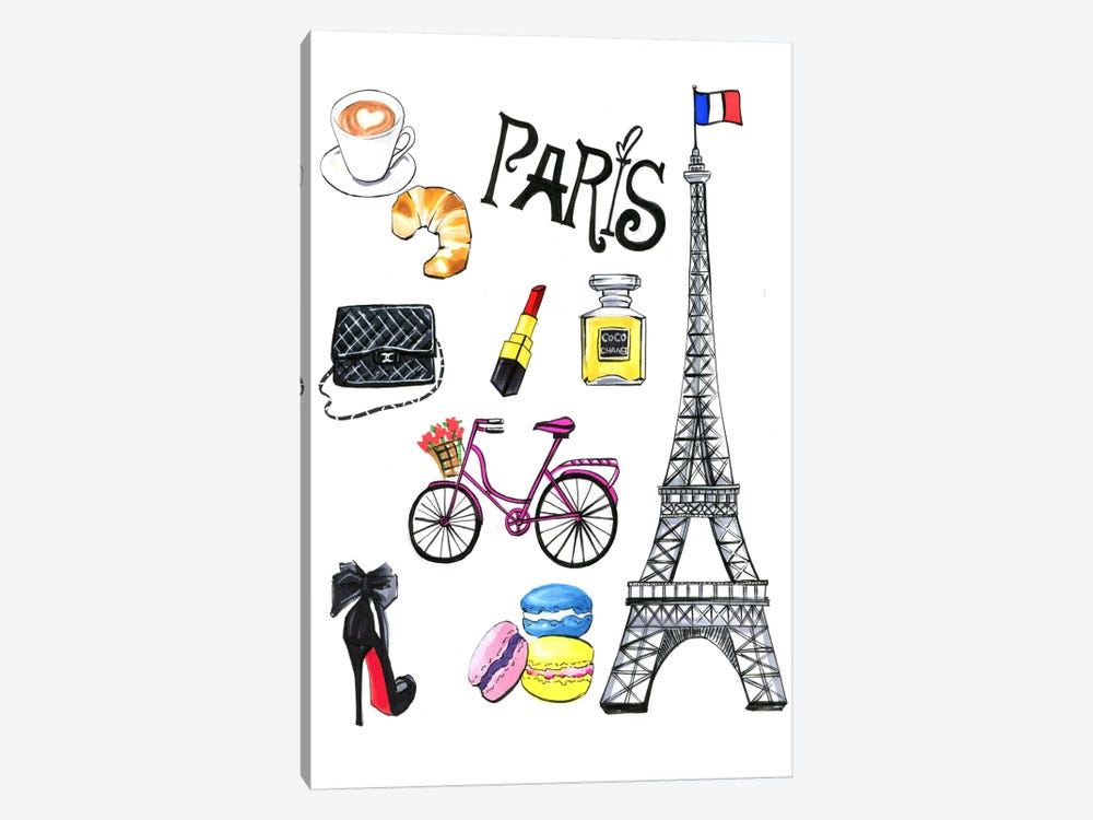 Paris by Rongrong DeVoe 1-piece Canvas Art Print