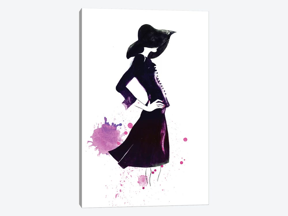 Shadow Girl 1-piece Canvas Wall Art