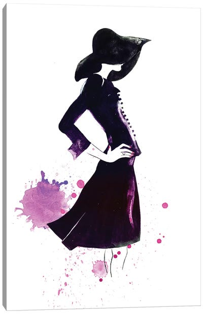 Shadow Girl Canvas Art Print