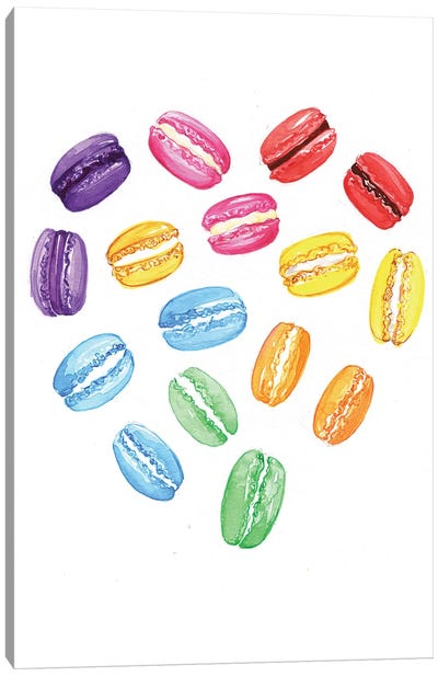 We Heart Macaroons Canvas Art Print