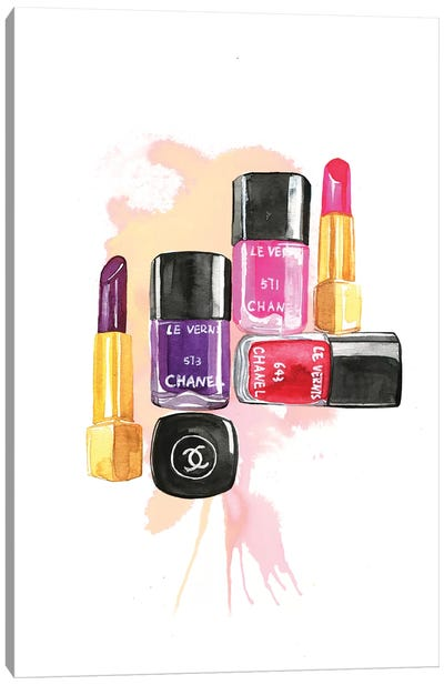 Nail Polish And Lipstick Canvas Print #RDE84