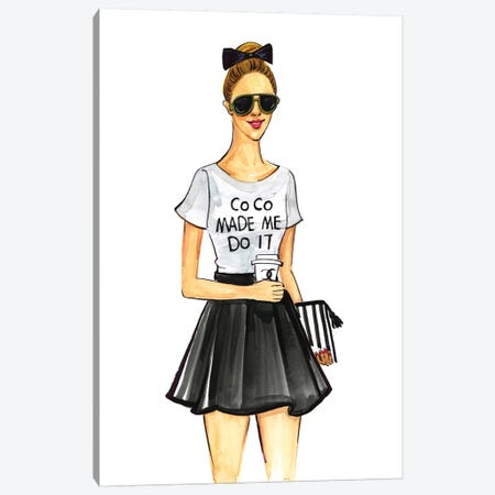Coco Made Me Do It Canvas Print #RDE85} by Rongrong DeVoe Canvas Art