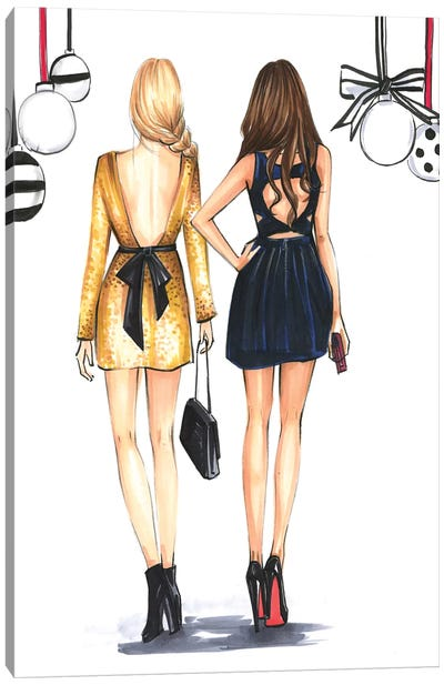 Fashionista Best Friends by Rongrong DeVoe Canvas Art Print