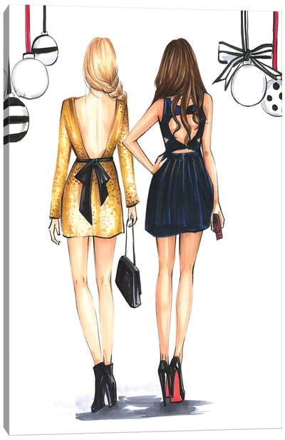 Fashionista Best Friends Canvas Art Print