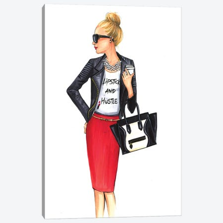 Girl Boss (Blonde) Canvas Print #RDE87} by Rongrong DeVoe Canvas Artwork