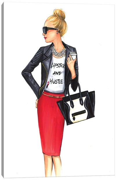 Girl Boss (Blonde) Canvas Print #RDE87