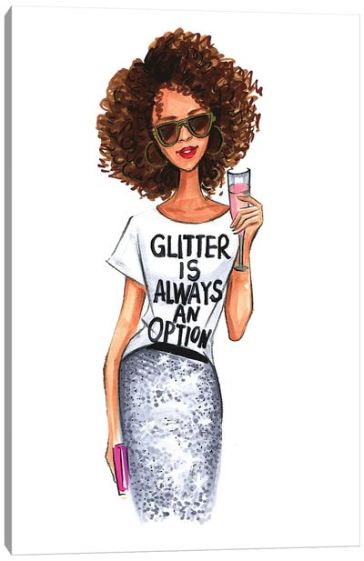 Glitter Is Always An Option by Rongrong DeVoe Canvas Art Print