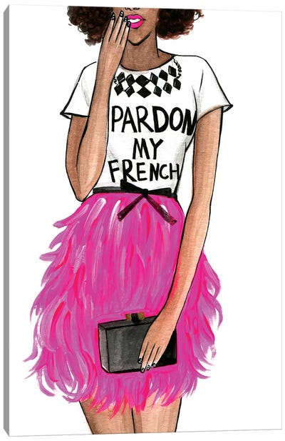 Pardon My French II by Rongrong DeVoe Canvas Art Print