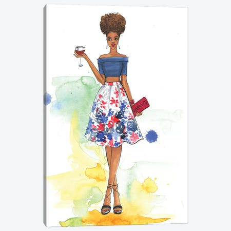 Cheers To The Weekend (Inspired By Style Watch) Canvas Print #RDE98} by Rongrong DeVoe Canvas Wall Art