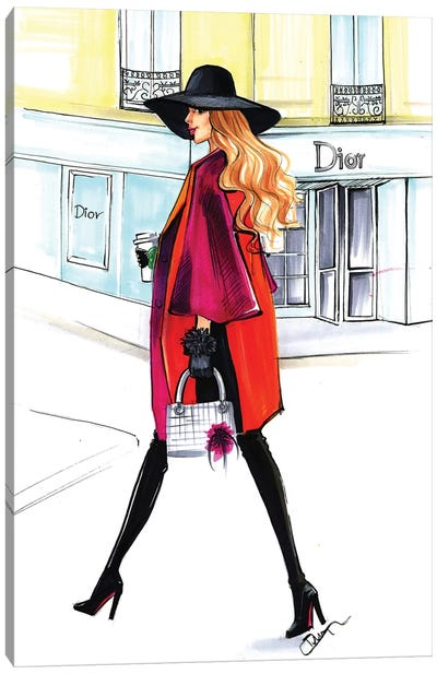 Dior Lady Canvas Print #RDE99