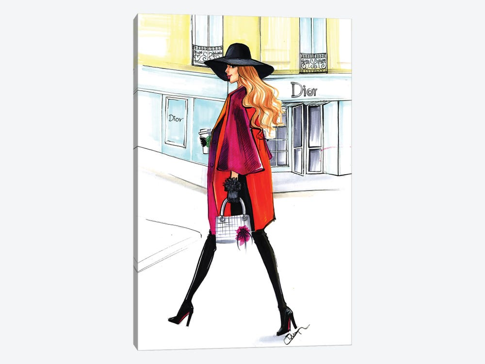 Dior Lady by Rongrong DeVoe 1-piece Canvas Art Print