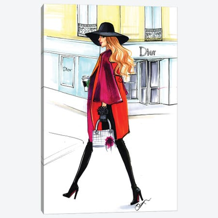 Dior Lady Canvas Print #RDE99} by Rongrong DeVoe Canvas Artwork