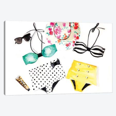 Summer Bikinis Canvas Print #RDE9} by Rongrong DeVoe Canvas Artwork