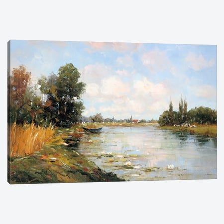 Aan de Waterkant I Canvas Print #RDH1} by Rob de Haan Canvas Art Print