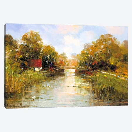 Aan de Waterkant II Canvas Print #RDH2} by Rob de Haan Canvas Print
