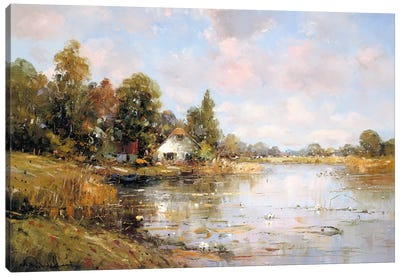 Aan de Waterkant IV Canvas Art Print