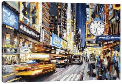 42nd Street At Dusk Canvas Art Print